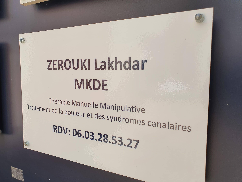 plaque ZEROUKI